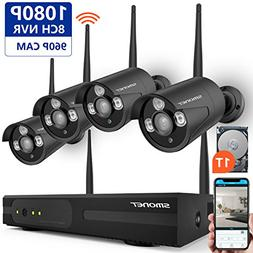 Wireless Security Camera System,SMONET 8CH 1080P IP Camera S