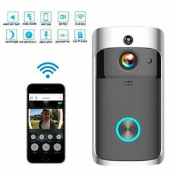 Wireless Smart WiFi DoorBell IR Video Visual Ring Camera Int