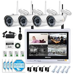Jennov Wireless Surveillance Security Camera System 4 CH 108