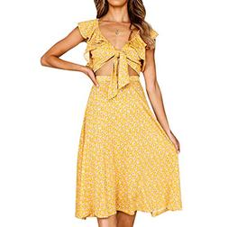 ANJUNIE 2Pcs Women Sleeveless Print Slim Fit Suit Party and
